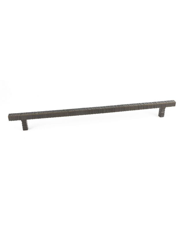 Forged 3 Square Bar Pull, Pair Oil Rubbed Bronze