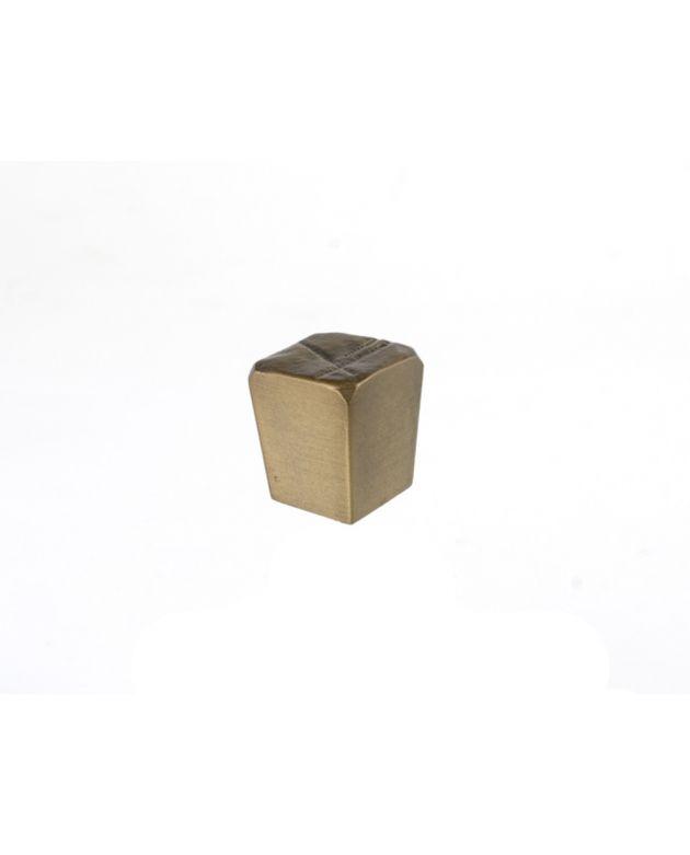 Jeff Goodman Cube Knob Antique Brass