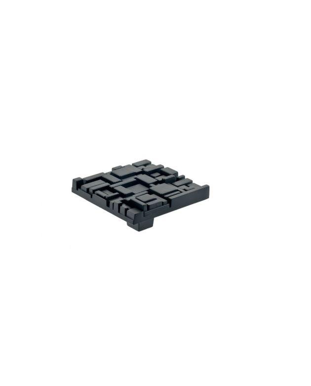 Offset Square Knob Black Matte