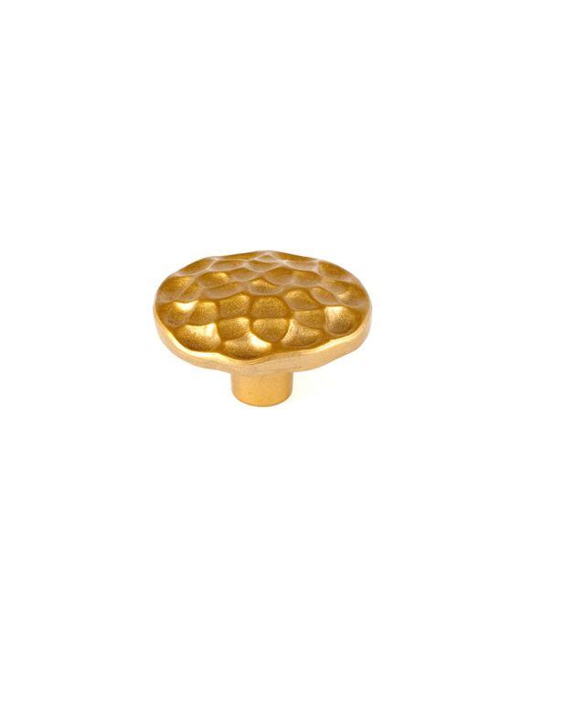 Pomegranate Round Knob Satin Brass