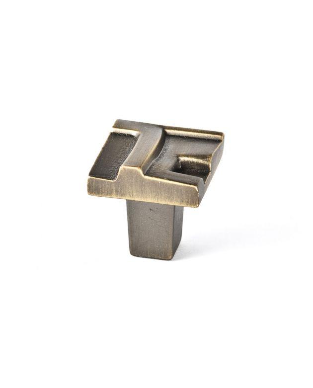 Rio Small Knob Antique Brass