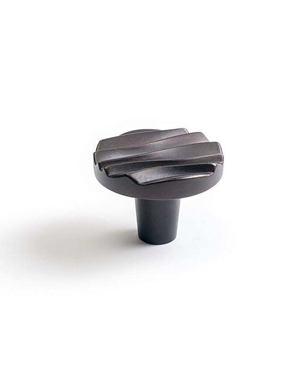 Wave Small Round Knob Oil Rubbed Bronze