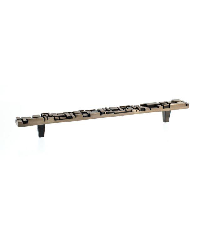 Offset Pull Antique Brass
