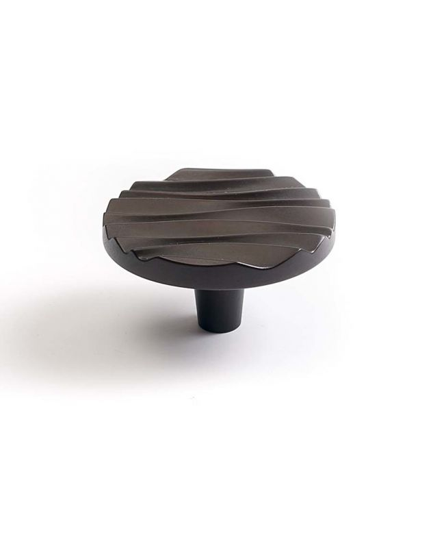 Wave Large Round Knob Oil Rubbed Bronze