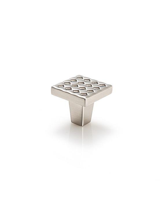 Argyle Square Knob 1 1/4 Inch Satin Nickel
