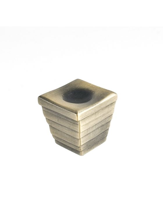 Forged 2 Large Cube Knob 1 3/8 Inch Antique Brass