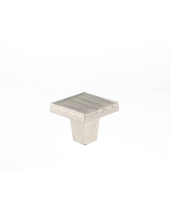 Forged 3 Square Knob 1 1/4 Inch Satin Nickel