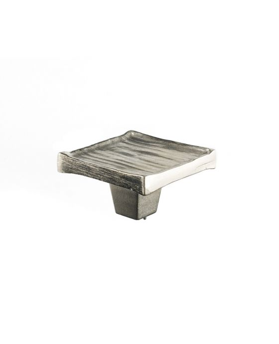 Forged 3 Square Knob 2 Inch Satin Nickel