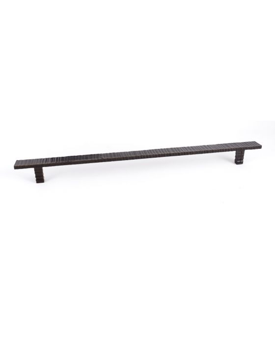Forged 3 Flat Bar Pull, Pair 14 1/2 Inch (c-c) Oil Rubbed Bronze