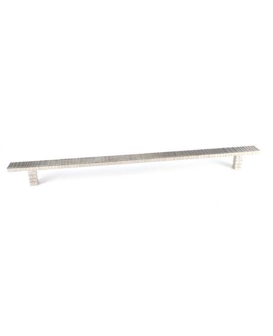 Forged 3 Flat Bar Pull, Pair 14 1/2 Inch (c-c) Satin Nickel
