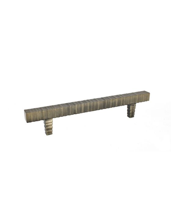 Forged 3 Square Bar Pull 6 1/4 Inch (c-c) Antique Brass
