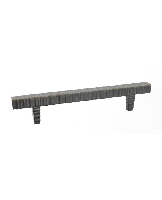 Forged 3 Square Bar Pull 6 1/4 Inch (c-c) Oil Rubbed Bronze