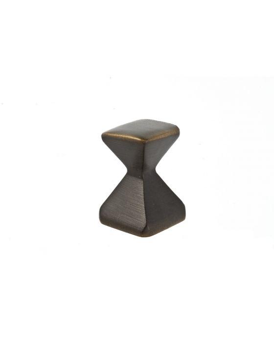 Forged 2 Small Square Knob 5/8 Inch Oil Rubbed Bronze