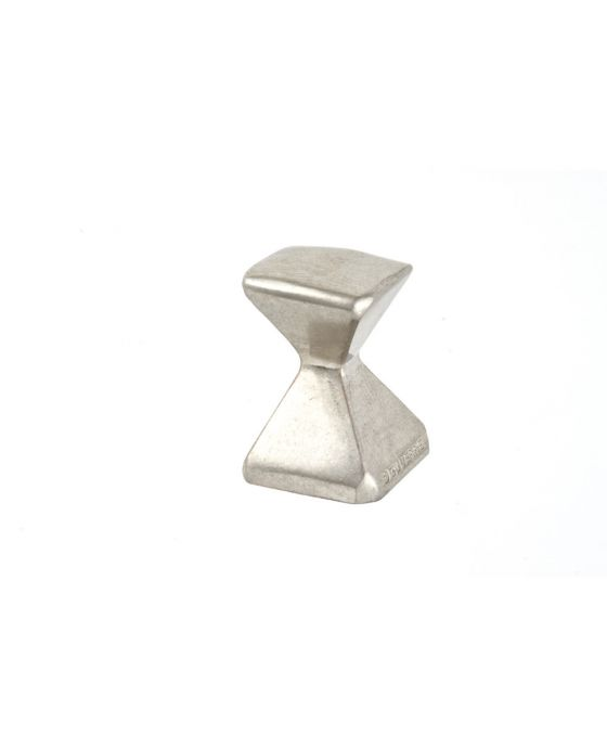 Forged 2 Small Square Knob 5/8 Inch Satin Nickel