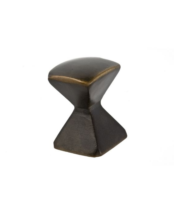 Forged 2 Med Square Knob 7/8 Inch Oil Rubbed Bronze
