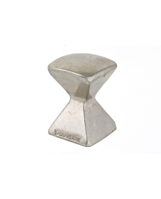 Forged 2 Med Square Knob 7/8 Inch Satin Nickel