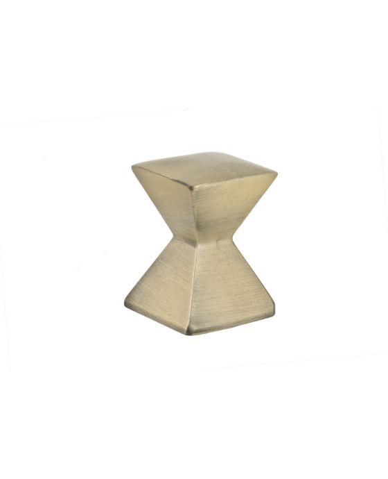 Forged 2 Large Square Knob 1 1/8 Inch Antique Brass