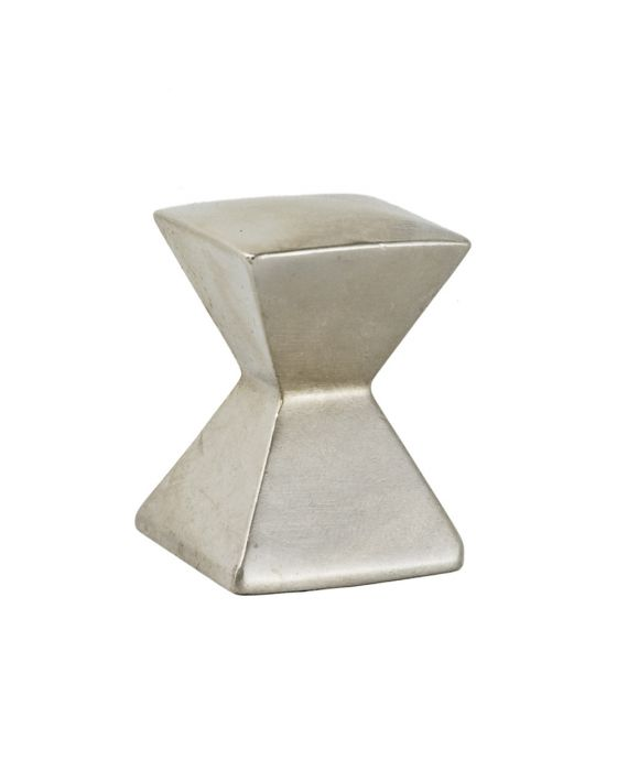 Forged 2 Large Square Knob 1 1/8 Inch Satin Nickel