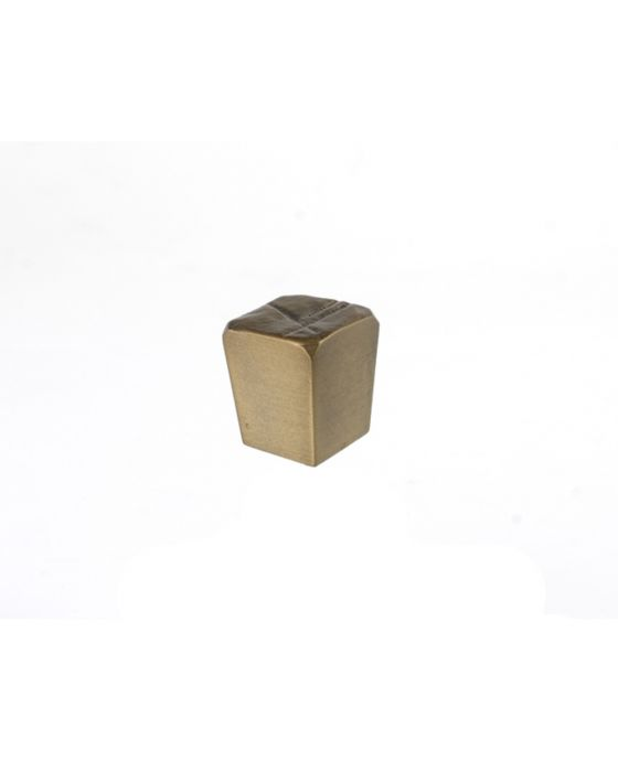 Jeff Goodman Cube Knob 1 Inch Antique Brass