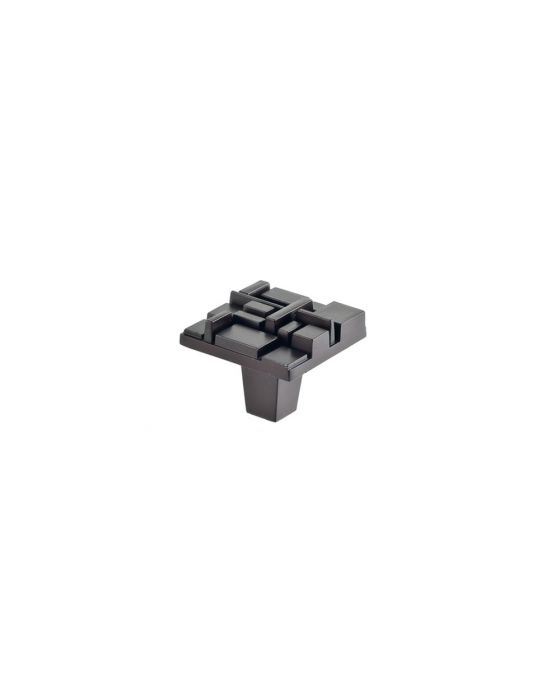 Offset Square Knob 1 1/2 Inch Oil Rubbed Bronze