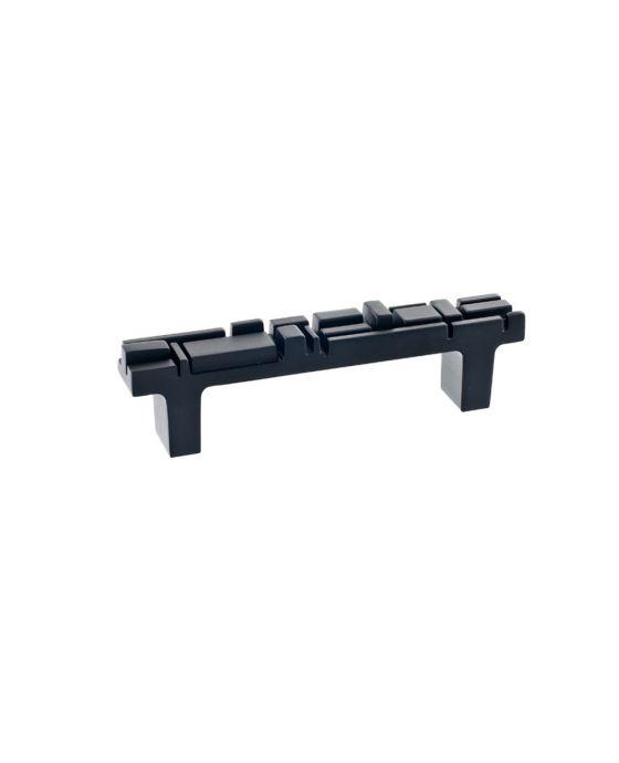 Offset Pull 3 3/4 Inch (c-c) Black Matte