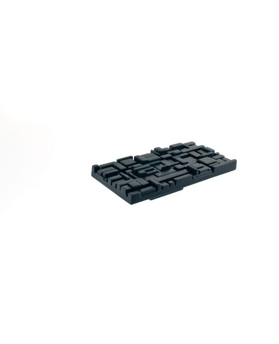 Offset Rectangle Pull 1 Inch (c-c) Black Matte
