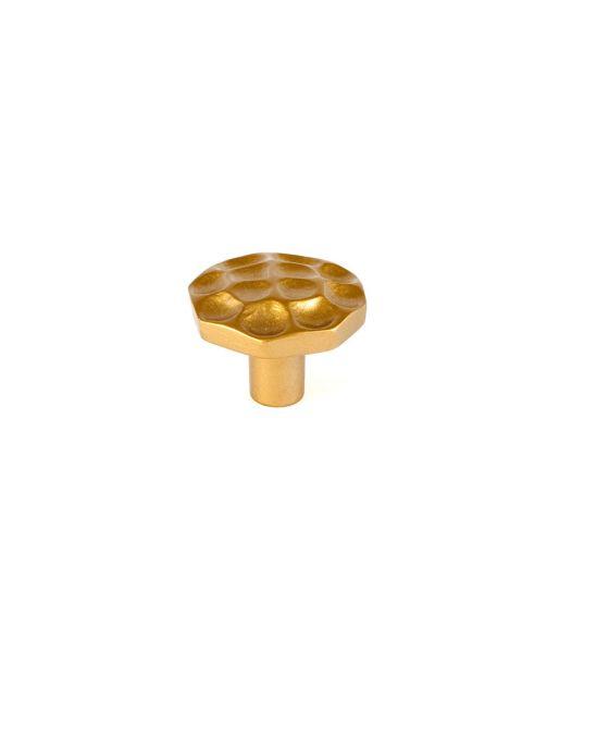 Pomegranate Round Knob 1 1/4 Inch Satin Brass