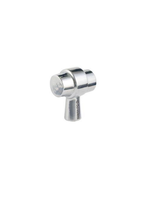 Primitive Knob 1 1/4 Inch Polished Aluminum