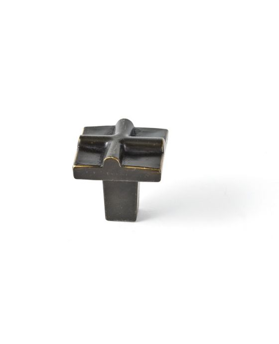 Rio Small Cross Knob 1 Inch Oil Rubbed Bronze