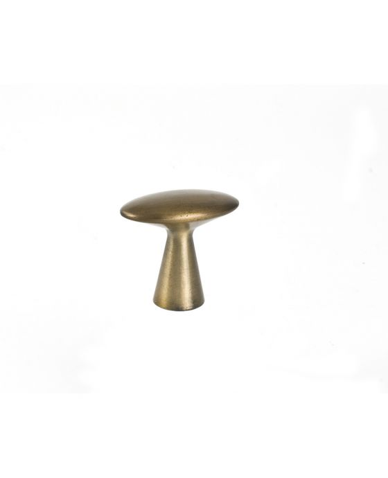 Series 3 Knob 1 5/8 Inch Antique Brass