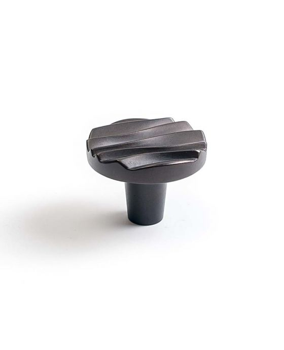 Wave Small Round Knob 1 1/2 Inch Oil Rubbed Bronze