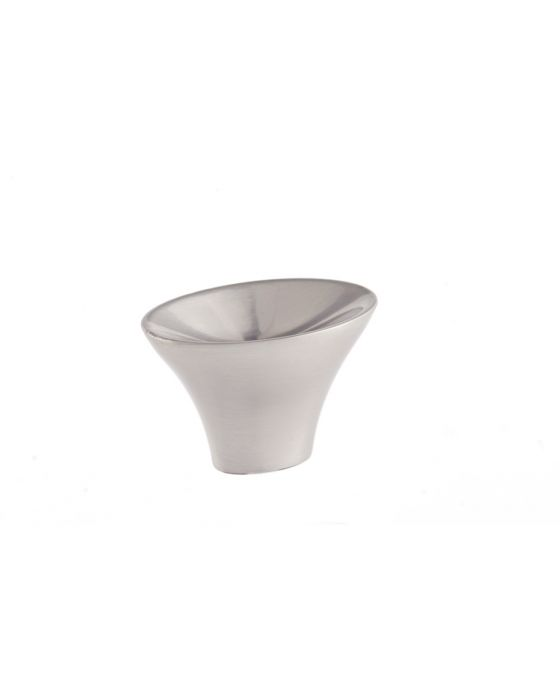 Lotus Knob 1 3/8 Inch Satin Nickel