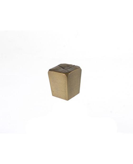 Jeff Goodman Cube Knob 1 Inch Antique Brass