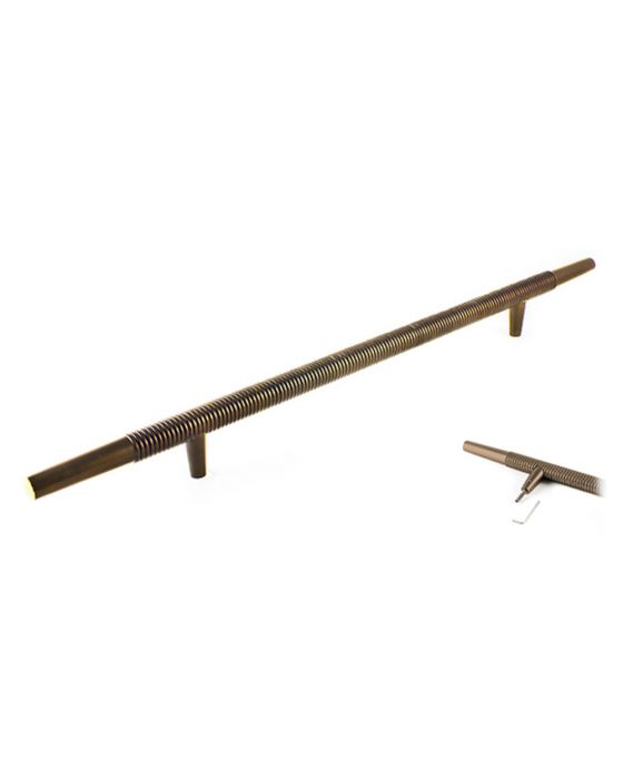 Stacked Pull, Pair 18 Inch (c-c) Oil Rubbed Bronze